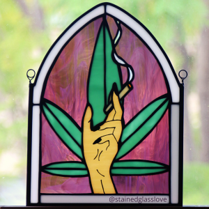 smoking hand cannabis marijuana art