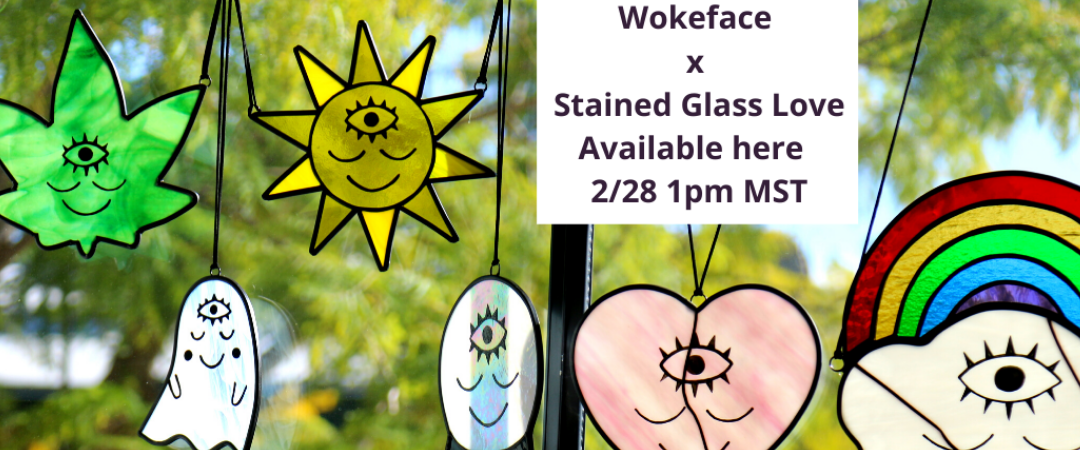Wokeface Stained Glass Love